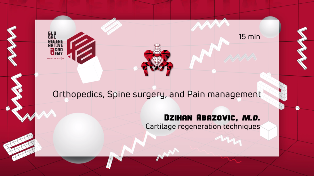 A powerpoint slide about orthopedics, spine surgery, and pain management by Dzihan Abazovic, M.D.