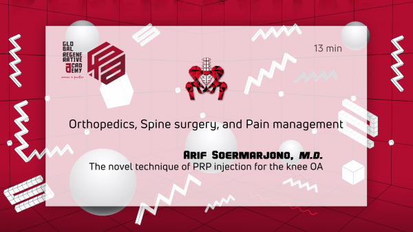 A powerpoint slide about orthopedics, spine surgery, and pain management by Arif Soermarjono, M.D.