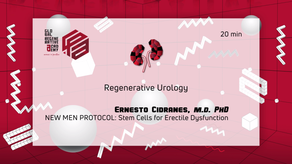 A powerpoint slide about regenerative urology by Ernesto Cidranes, M.D.