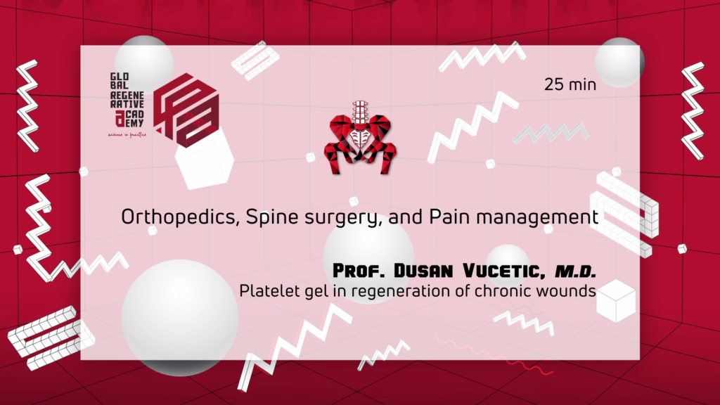 A powerpoint slide about orthopedics, spine surgery, and pain management by Prof. Dusan Vucetic, M.D.