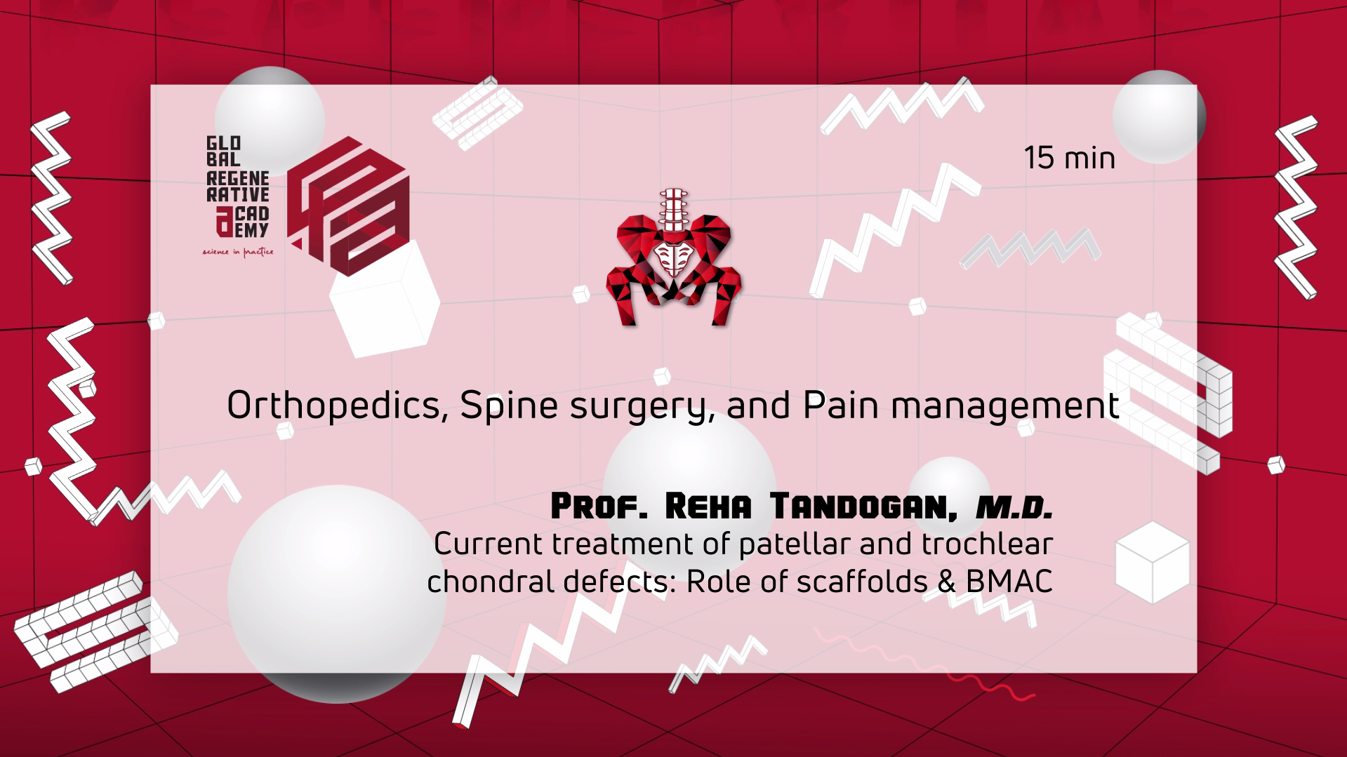 Prof. M.D. Reha Tandogan – Current treatment of patellar and trochlear chondral defects: Role of scaffolds & BMAC