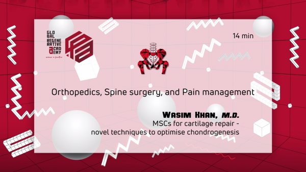 A powerpoint slide about orthopedics, spine surgery, and pain management by Wasim Khan, M.D.