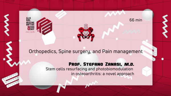 A powerpoint slide about orthopedics, spine surgery, and pain management by Prof. Stefano Zanasi, M.D.
