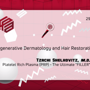 A powerpoint slide about regenerative dermatology and Hair Restoration by Tzachi Shelkovitz, M.D.