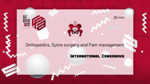 A powerpoint slide about orthopedics, spine surgery, and pain management
