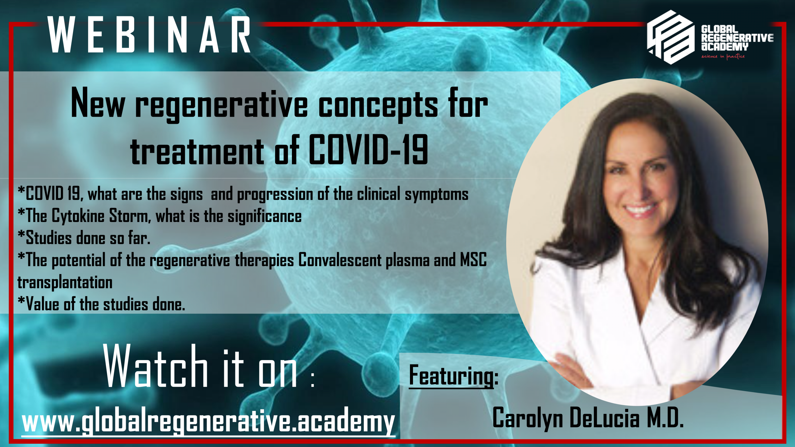 New regenerative concepts for treatment of COVID-19 ​