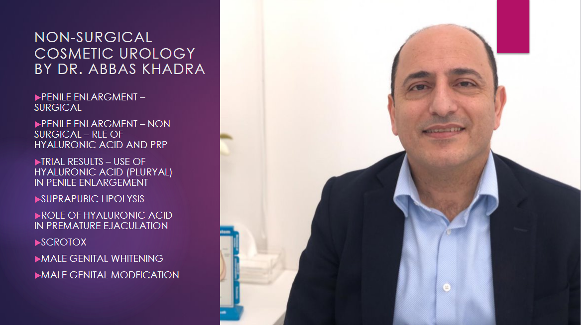 Non surgical cosmetic urology by Dr. Abbas Khadra